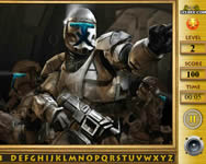 Star The Clone Wars Find The Alphabets online játék